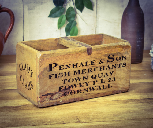 Medium Vintage Box Penhale Cornwall Fish Box